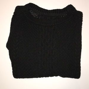 Brandy Melville Black Maggie Cable Knit Sweater